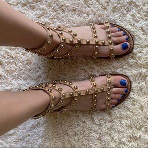 Sam Edelman Gold Studded Gladiator Sandals